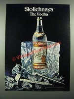 1982 Stolichnaya Vodka Ad - The Vodka
