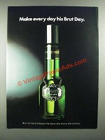 1982 Faberge Brut After Shave Ad - Make Every Day His Brut Day