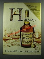 1983 Hennessy Cognac Ad - The World's Most Civilized Spirit