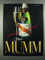 1983 Mumm Champagne Ad - When It Comes to Champagne