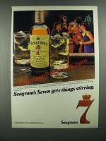 1984 Seagram's Seven Crown Whiskey Ad - Gets Things Stirring