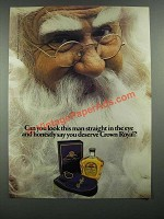 1984 Seagram's Crown Royal Whiskey Ad - Look in The Eye