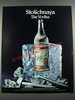 1985 Sotlichnaya Vodka Ad - The Vodka