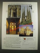 1988 Espana Tourist Office of Spain Ad - Over 2500 Castles, Cathedrals