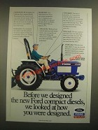1988 Ford 1720 Tractor Ad - Looked At How You Were Designed