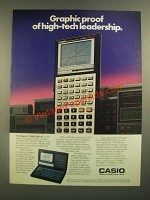 1988 Casio FX-7000G and 7500G Calculators Ad - Graphic Proof