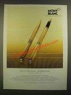 1988 Montblanc Noblesse Pen Ad - The Jewel