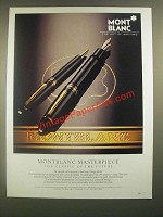 1988 Montblanc Masterpiece Pen Ad - The Classic of the Future