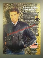 1988 Hein Gericke Concord Leather Jacket Ad - Better Our Skin Than Yours