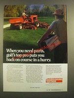 1988 Jacobsen Textron Mower Parts Ad - Puts You Back on Course in a Hurry