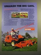 1988 Jacobsen Textron Turfcat Mowers Ad - Unleash the Big Cats