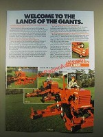 1988 Jacobsen Textron F-10, HF-15 and HR-15 Mowers Ad - Lands of Giants