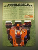 1988 Jacobsen Textron LF-100 5 Gang Mower Ad - Up Front