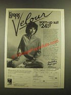 1988 L'eggs Velour Warm-up Suit Ad