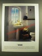 1988 Kohler Serpentine Pedestal Lavatory and Matching Toilet Ad