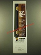 1988 Stanley Solid Brass Hinges Ad - Show Your Guests the Door