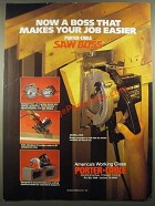 1988 Porter-Cable Saw Boss Model #345 Ad - Boss That Makes Job Easier
