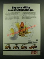 1988 Case 380B Tractor Ad - Big Versatility in a Small Package