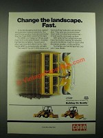 1988 Case 480E LL Loader/Landscaper Ad - Change the Landscape Fast