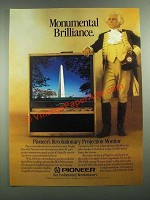 1988 Pioneer SD-P401 Projection Monitor Television Ad - Monumental