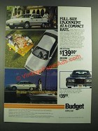 1988 Budget Rent a Car Ad - Full-Size Enjoyment at a Compact Rate