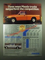 1988 Mazda B2200 Pickup Truck Ad - Outperform the competition