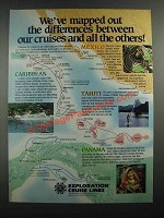 1988 Exploration Cruise Lines Ad - We've Mapped Out the Differences