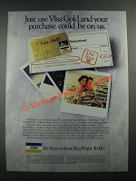 1988 VISA Gold Credit Card Ad - Your Purchase Could Be On Us