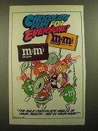 1988 M&M's Chocolate Candies Ad - Marching Band - Fun for Everyone