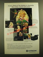1988 Hitachi Video Printer and Compact VHS Movie Camera/Recorder Ad