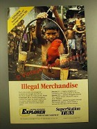 1988 TBS National Geographic Explorer Advertisement - Illegal Merchandise