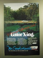 1988 GM Goodwrench Genuine GM Parts Ad - Gator X-ing