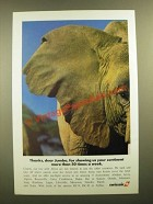 1988 Swissair Airlines Ad - Thanks, Dear Jumbo