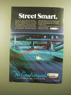 1988 GM Goodwrench Genuine GM Parts Ad - Street Smart