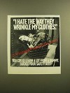 1988 U.S. Department of Transportation Ad - Crash Dummies - Wrinkle Clothes