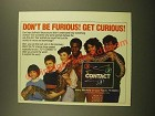 1988 PBS 3-2-1 Contact TV Show Ad - Don't Be Furious! Get Curious!
