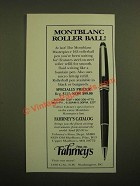 1988 Fahrney's Montblanc Masterpiece 163 Rollerball Pen Ad