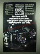 1976 Contax RTS Camera Ad - Superior Photographic Instrument of Our Time