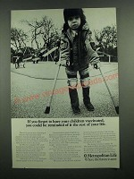 1975 Metropolitan Life Insurance Ad - If You Forget To Have Children Vaccinated