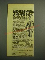 1975 Charles Atlas Dynamic-Tension Book Ad - Who Else Wants He-Man Body?