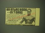 1975 Charles Atlas Dynamic-Tension Book Ad - An Atlas Body