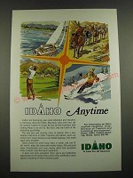 1974 Idaho Division of Tourism and Industrial Development Ad - Anytime