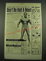 1974 Charles Atlas Dynamic-Tension Book Ad - Don't be Half a Man!