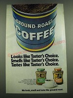 1974 Taster's Choice Ad - Looks Like Taster's Choice