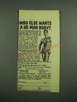 1974 Charles Atlas Dynamic-Tension Book Ad - A He-Man Body