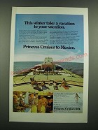 1971 Princess Cruises Ad - This Winter Take a Vacation