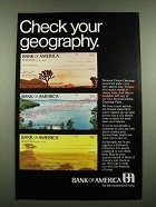 1970 Bank of America Ad - Check Your Geography