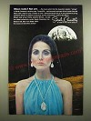 1969 Sarah Coventry Tranquility Necklace and Earrings Ad