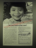1969 Christian Children's Fund Ad - But Just Look at Her Now!