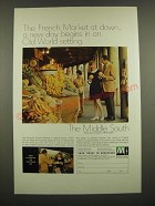 1969 Middle South Utilities Ad - The French Market at Dawn